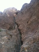 Rock Climbing Photo: The first half of the second pitch.  Fantastic ste...