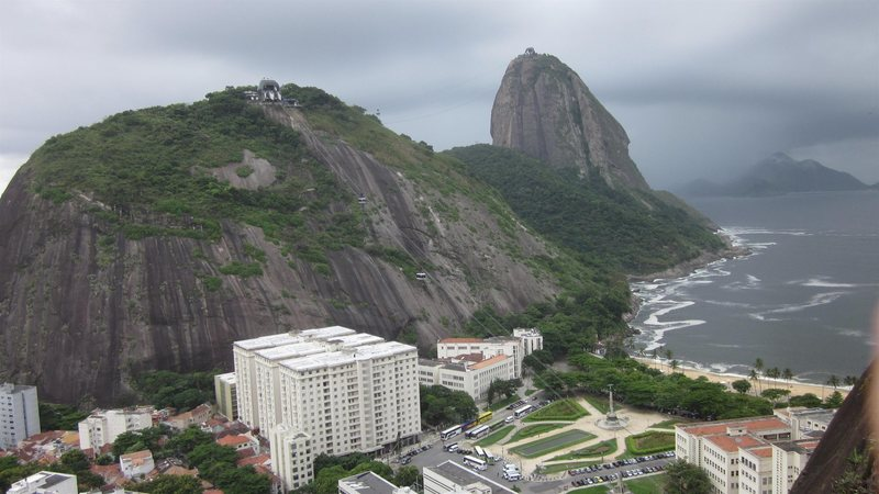 A view of the Urca and Pao de Acucar as seen from Babilonia.