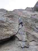 Rock Climbing Photo: The cool crux crack on Lagartao.