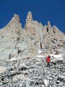 Rock Climbing Photo: Below Petit Grepon.
