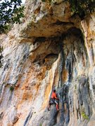 Rock Climbing Photo: Shallow cave with tufas at the Cimitero sector of ...