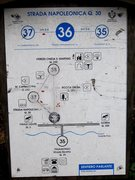 Rock Climbing Photo: Map at the trailhead across from Finalborgo showin...
