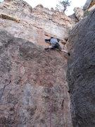 Rock Climbing Photo: Crabzilla nearing C3.