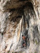 Rock Climbing Photo: Bouldering on the nifty tufas at the Cimitero sect...