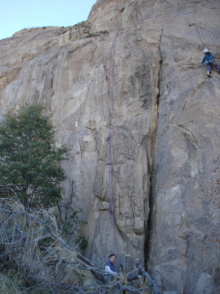 Rock Climbing Photo: Batman (crack) in center.