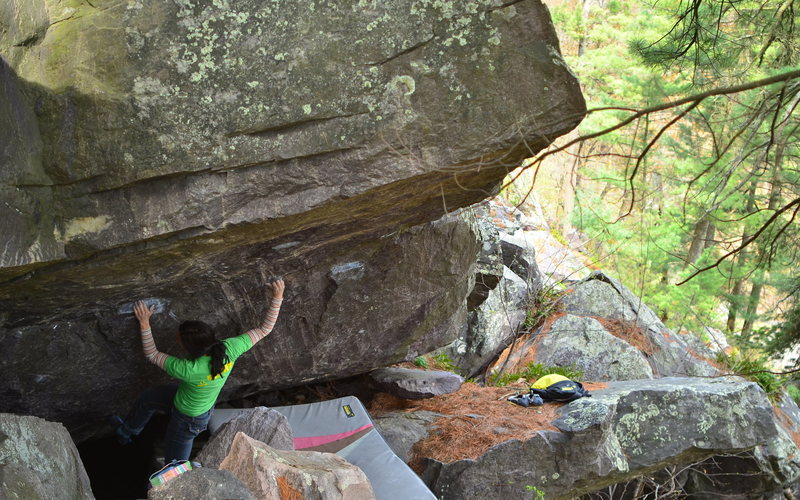 Rock Climbing Photo: Left hand is the start hold.
