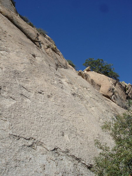 Rock Climbing Photo: Start of D&O; just right of El Cautivo.