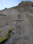 Rock Climbing Photo: Looking up P2 toward the top.