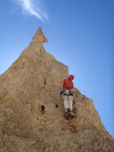Climbing the Sword. Big thanks to Paul Ross for putting up the route.