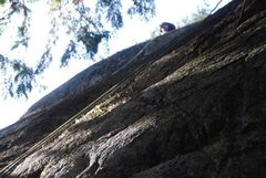 Rock Climbing Photo: Just over the bulging crux