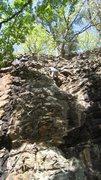 Rock Climbing Photo: Todd on Stiff-Necked Fools.