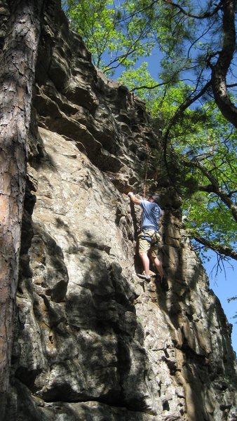 Rock Climbing Photo: Todd on Action Hotdog.