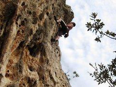 Rock Climbing Photo: Steeeeep finish on Seppia Grassa.  Git yer guns lo...