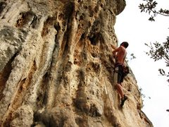 Rock Climbing Photo: Stayin' steep whilst milking the holds on Seppia G...