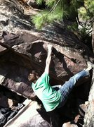 Rock Climbing Photo: This is how we were starting the V2 variation. Ton...
