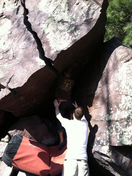 Rock Climbing Photo: Mr. Mix getting deep inside....