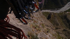 Rock Climbing Photo: Heading up Time Wave Zeros, looking down and admir...