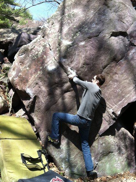 Rock Climbing Photo: Paul getting the large pinch.