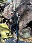 Rock Climbing Photo: Good left sidepull