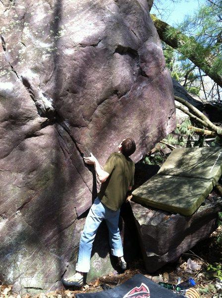 Rock Climbing Photo: John K at the start.