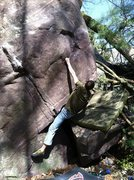 Rock Climbing Photo: Moving up to the crimp