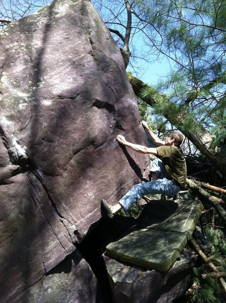 Rock Climbing Photo: Moving up the arete