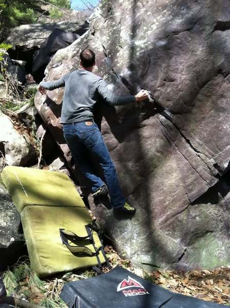 Rock Climbing Photo: Throwing for the lip. Only Paul could do this. I h...
