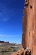 Rock Climbing Photo: Scarface, just another perfect day in Indian Creek