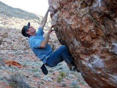 Rock Climbing Photo: Monkey Bar Boulder, Kraft Mountain (Red Rocks)