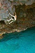 Rock Climbing Photo: Pulling around the mini arête.