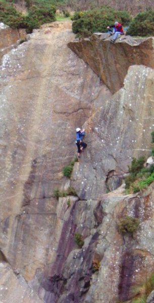 Rock Climbing Photo: Gargoyle Groove HVS/5B West Valley
