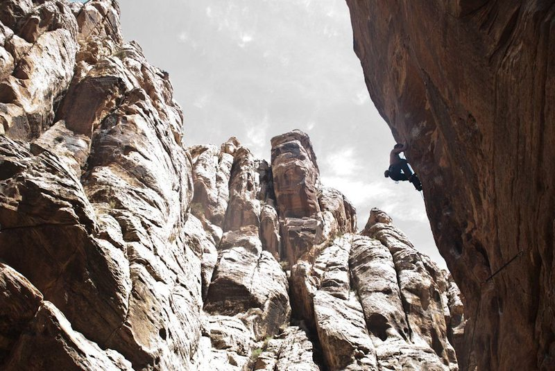 Entering the crux