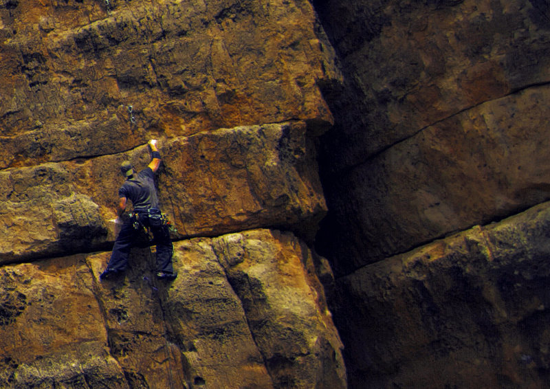 Rock Climbing Photo: Fun route! One of my favorites in the canyon. Go a...