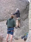 Rock Climbing Photo: The late Tyler Stetson beginning up Peopleburg.