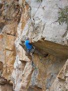Rock Climbing Photo: Jim Scott Pulling the first roof.
