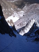 Rock Climbing Photo: Looking down the middle section of The Eighth Rout...