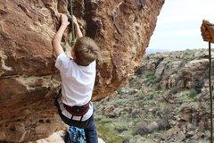 Rock Climbing Photo: Seth on Luck O' the Irish