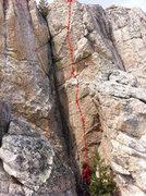 Rock Climbing Photo: Topo for Greeno's Oil Can.
