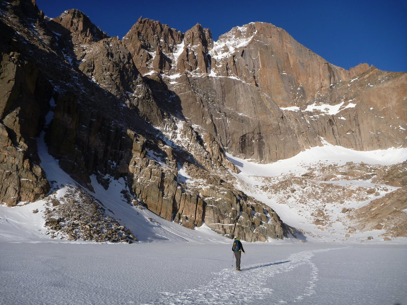 Rock Climbing Photo: Beta photo. Locate the notch left of the summit. T...
