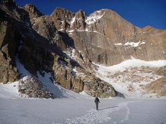 Rock Climbing Photo: Beta photo. Locate the notch left of the summit. T...