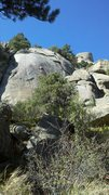 Rock Climbing Photo: Shows the upper part of the route, the lieback fla...
