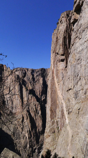 E Face of N Chasm View Wall as viewed from Cruise Gully.