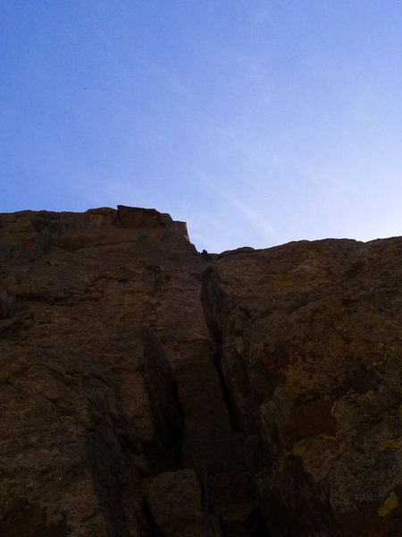 Rock Climbing Photo: Stephen leading P3.
