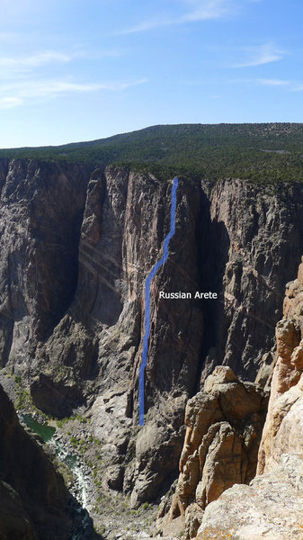 Rock Climbing Photo: Annotated route.