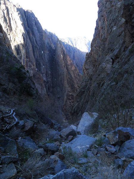 Rock Climbing Photo: SOB Gully.