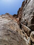 Rock Climbing Photo: Looking up P2.