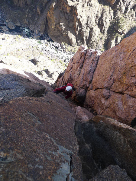 Rock Climbing Photo: Top of P6.