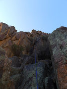 Rock Climbing Photo: P7 (easier climbing to the right).