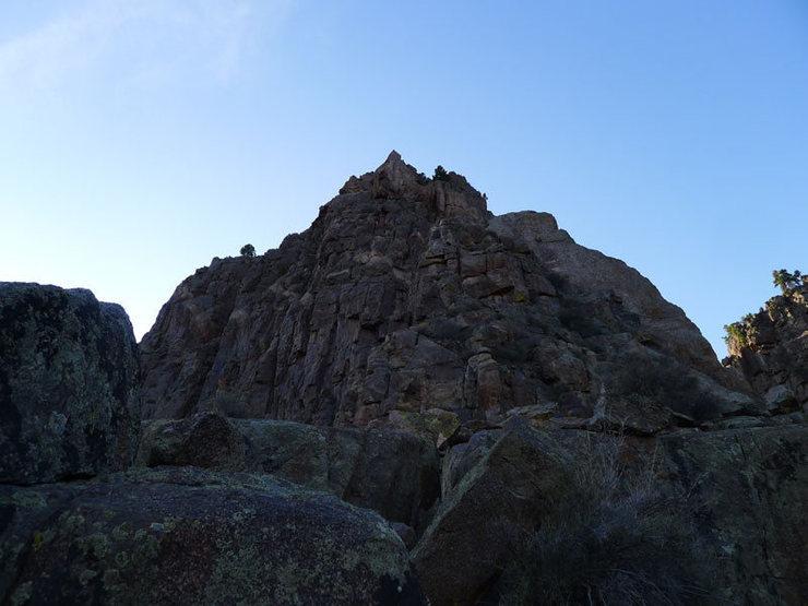 Rock Climbing Photo: Final pile (class 3-4).