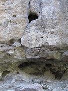 Rock Climbing Photo: The first move (start) of Rat's nest.